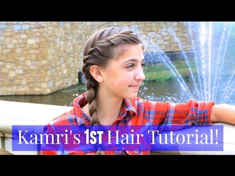 French Twist into Side Braid | Kamri's 1st Tutorial
