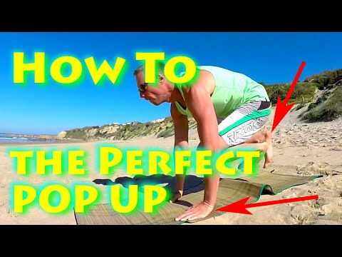 Easy Pop Up - Surf Tutorial - How To Stand Up on a Surfboard
