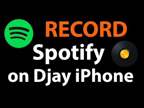 Record a MIX Djay for iPhone with Spotify! - No computer/jailbreak