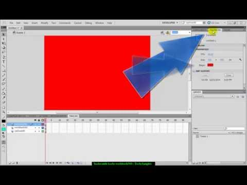 Flash Tutorial:Changing Background Stage color in CS5.