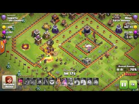 Clash of clans th11 balloons &lava.minion 3 star