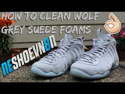 How To Clean Wolf Grey Foamposites! @Reshoevn8r
