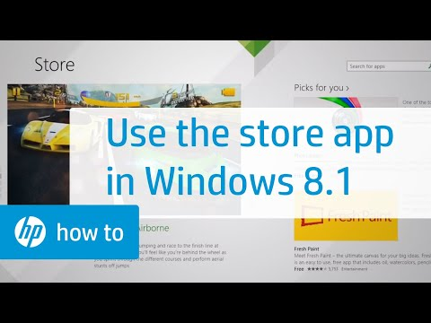 Using the Store App in Windows 8.1 for HP Computers