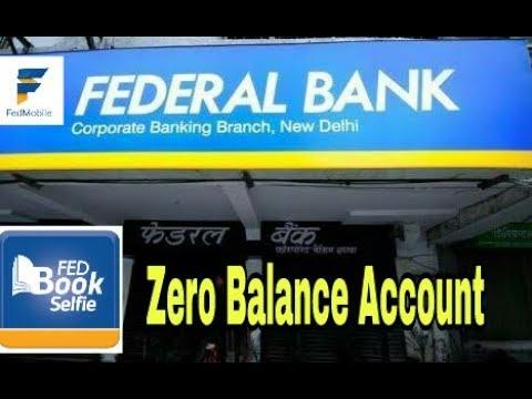 Federal bank Selfie Lite Zero balance account   How to open Zero balance saving account