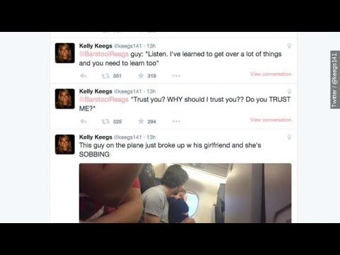 Passenger Live Tweets Couple's Awkward Breakup On Airplane - Newsy