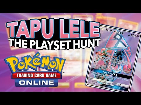 TAPU LELE THE PLAYSET HUNT! Opening 36 Guardians Rising Online Booster Packs | Pokemon TCG Online