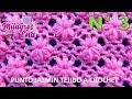 Punto FLORES JAZMÍN tejido a crochet para colchitas de bebe - points crocheted mp3