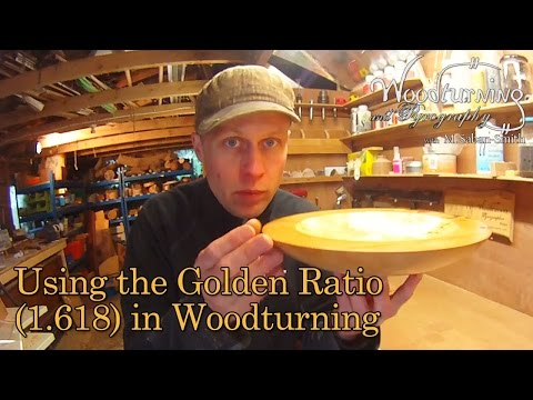 #37 How to Use the Golden Ratio (1.618) in a Woodturning Bowl