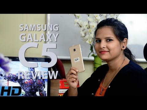 Samsung Galaxy C5 Unboxing and Review Hindi   Price l Specification   Camera   Battery   Ratings