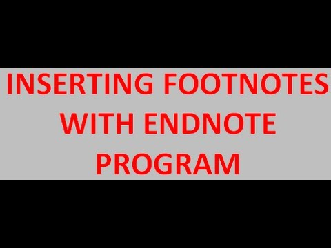 How to insert footnotes using EndNote software