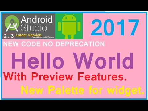 #3 ANDROID STUDIO 3.0 tutorial (Hello world) Make your first app. NEW (2017)