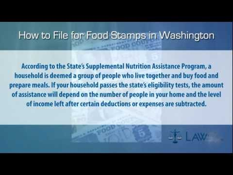How to File for Food Stamps Washington