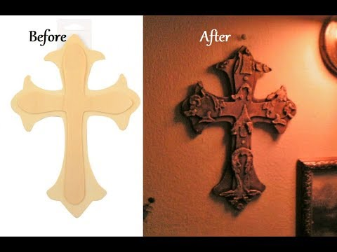 Transforming a Dollar Store find into a Celtic Cross Amazing DIY