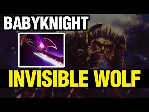INVISIBLE WOLF - BabyKnight Plays Lycan WITH SILVER EDGE - Dota 2