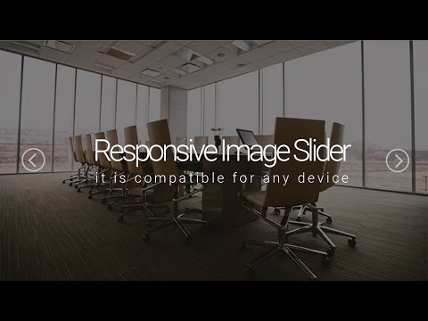 Responsive image slider using javascript, bootstrap, css