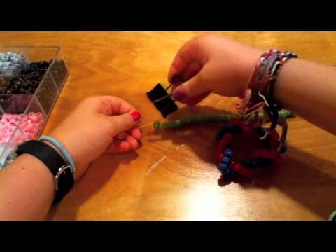 How to make a kandi/pony bead twisted bracelet