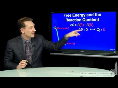 Free Energy and the Reaction Quotient