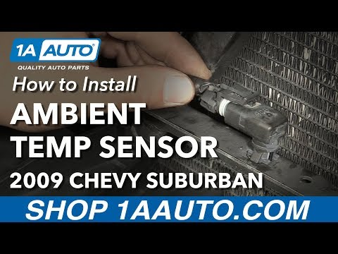 How to Install Replace Ambient Temperature Sensor 2009 Chevy Suburban 1500