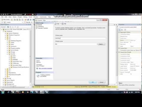 MS SQL SERVER: How to Create Database Schema Using SSME and T-SQL