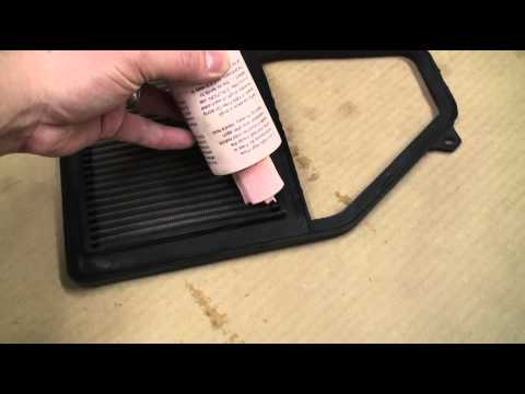How to Clean and Recharge a K&N Air Filter Element Assembly