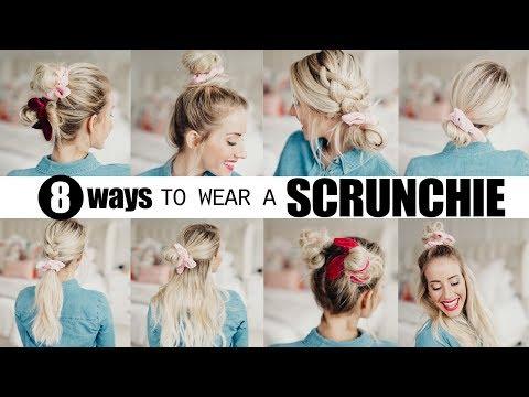 8 cute SCRUNCHIE hairstyles! | Twist Me Pretty