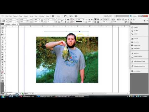 InDesign Tutorial: How to make photos pop out of their frame (LIKE 3-D!!!)