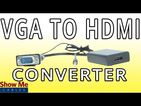 VGA To HDMI Converter - Change Video Signals From Analog To Digital! #47-300-005