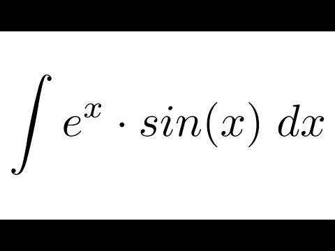 Integral of (e^x)*sin(x) (by parts)