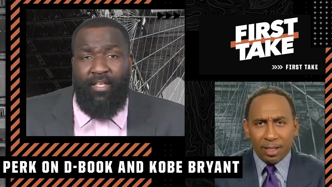 Kendrick Perkins reacts to Stephen A. comparing Devin Booker to Kobe Bryant | First Take
