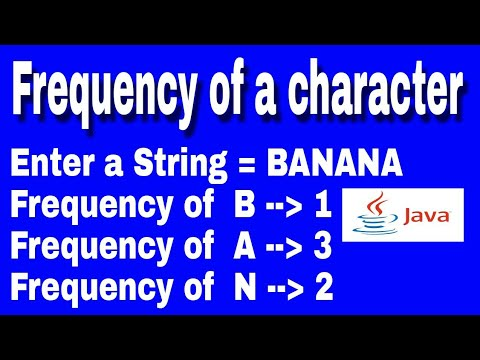 Frequency of a character in java || how to print frequency in java || Knowledge Light