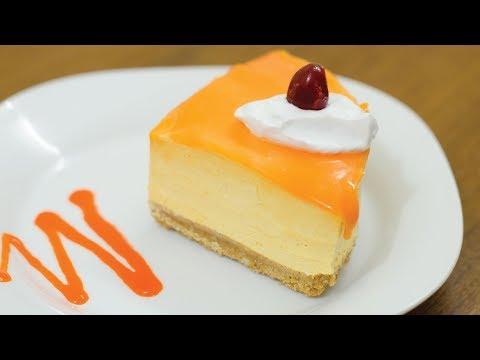 EGGLESS MANGO MOUSSE CAKE l Without Oven & Gelatin/Agar Agar
