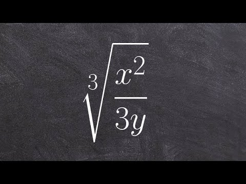 Algebra 2 - How to divide the cube root of a rational expression by rationalizing the denominator