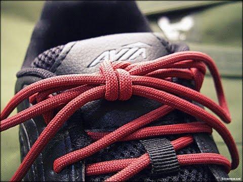 A Paracord Shoelace Tie