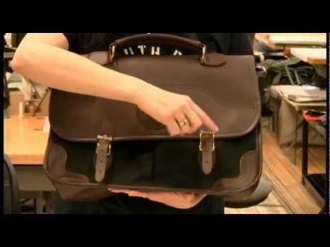 Executive Portfolio - USA made Canvas and Leather Briefcase