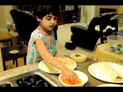 Anika cooking tortilla wrap