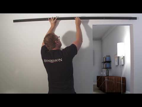 How to: Install Sliding Barn Door Hardware - Rustic 80 by P C Henderson