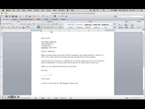 Write a Free 2 Weeks Resignation Letter | PDF | Word