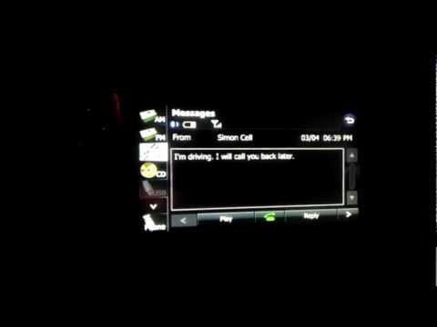 Subaru Navigation SMS / Text Messaging working.