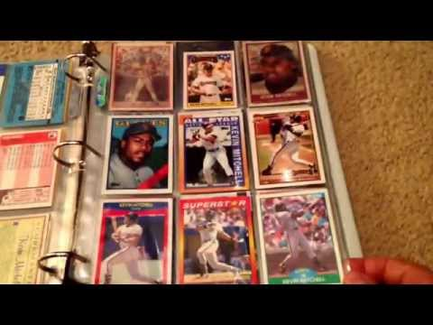 Man Cave? Bay Area MVP's baseball card binder!