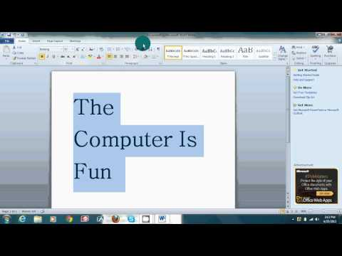How to create a document in Microsoft Word 2010