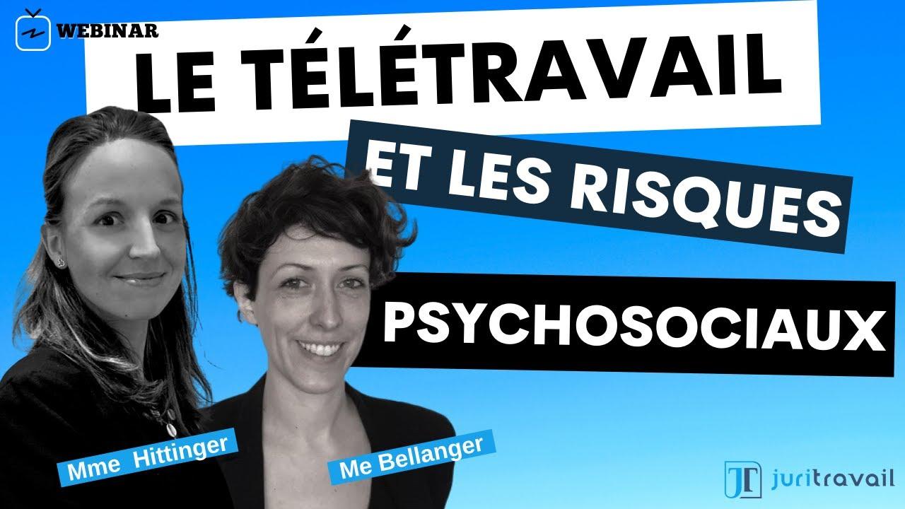 Le télétravail et les risques psycho sociaux