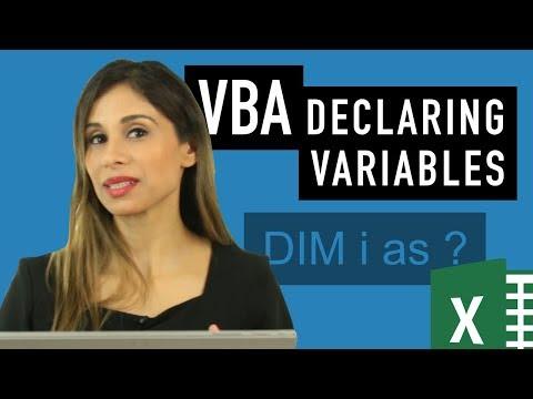 Excel VBA basics: Data types, DIM & SET (Learn to use them correctly)