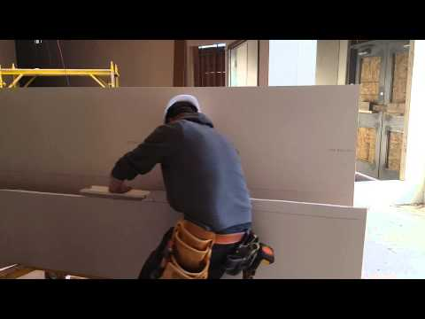 Trick to cut Drywall at the same measure faster