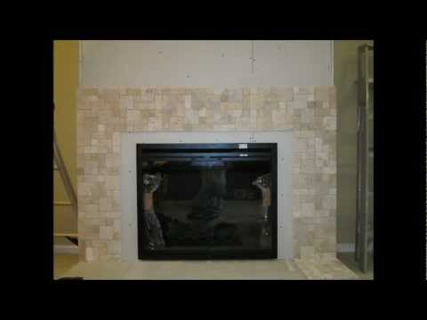 fireplace I built with a Classic Flame electric fireplace insert