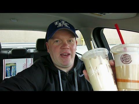 McDonald's Ice Coffee vs Burger King Ice Coffee
