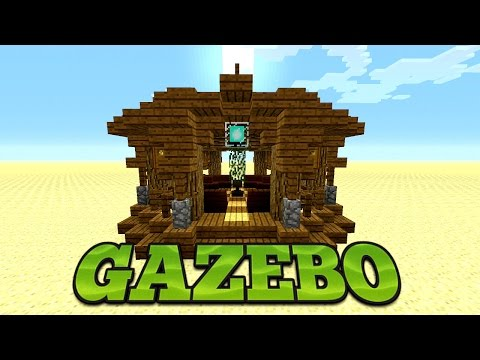 Minecraft: How To Build A Gazebo Tutorial | Minecraft Garden Design Idea
