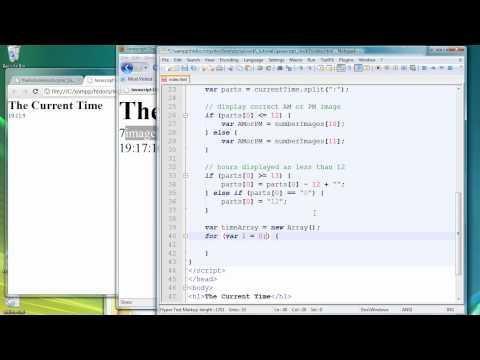 Javascript Clock tutorial part 2