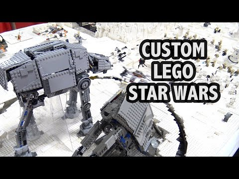 Motorized LEGO Star Wars Hoth Battle | Philly Brick Fest 2018