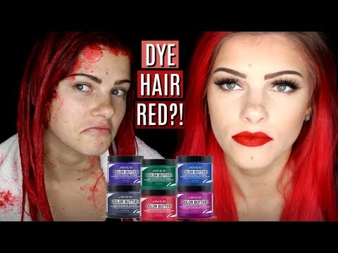 TEMPORARILY DYE HAIR RED | JOICO COLOR BUTTER