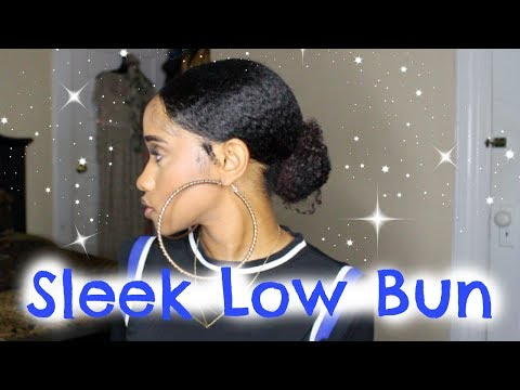 SLEEK Low Bun On Natural Hair   NaeandNea